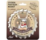 Nekupto Hobby 3in1 Bottle Opener, Magnet, Passionate Chef 10 cm