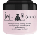 Ziaja Jeju Black sugar body peeling with anti-inflammatory and antibacterial effects 200 ml