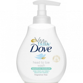 Dove Baby Sensitive Moisture cleansing gel for body and hair for children 200 ml