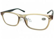 Berkeley Reading glasses +2.5 plastic light brown, black sides 1 piece MC2184