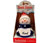 Nekupto Snowman with the name Karel Christmas decoration 034 size 8 cm