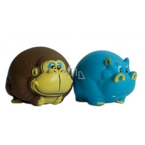 Magnum Vinyl Monkey / Hippopotamus toy whistling for dogs 8 cm