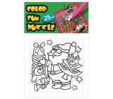 Collage Christmas Santa Christmas Collage Colors and Gift Cards 25 Pieces 18 x 12 cm