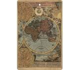 Bohemia Gifts & Cosmetics Aromatická vonná karta Mapa 10,5 x 16 cm
