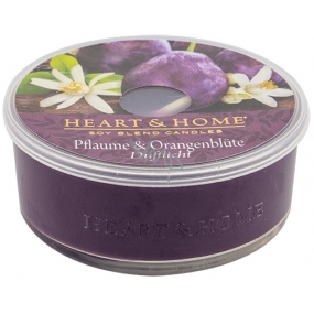 Heart & Home Plum and orange flower Soy scented candle in the mist