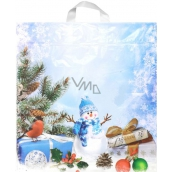 Plastic bag Snowman, bird, gift 43.5 x 46 cm