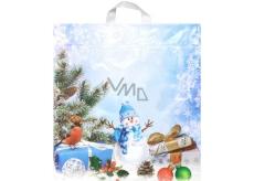 PE bag Winter Nature / Snowman, bird, gift / 8282