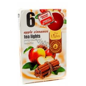 Tea Lights Apple Cinnamon with scent of apple and cinnamon scented tea candles 6 pieces