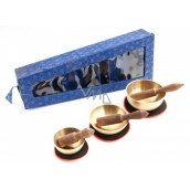Tibetan bowl 3 pieces in blue gift box