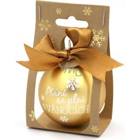 Nekupto Christmas balls Wishes come true… 11 x 6 cm