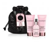 Baylis & Harding Jojoba, Vanilla and Almond oil body spray 100 ml + shower gel 100 ml + body lotion 100 ml + evening bag, cosmetic set