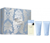 Dolce & Gabbana Light Blue eau de toilette for women 50 ml + shower gel 50 ml + body cream 50 ml, gift set