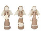 Jute angel with lace 37 cm for standing 1 piece