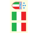Arch tattoo decals on face and body Italy flag 3 motif