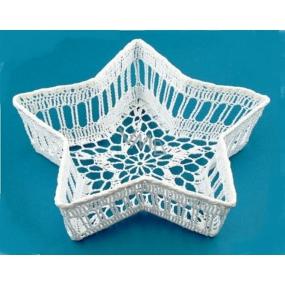 Crochet basket-star 22 cm