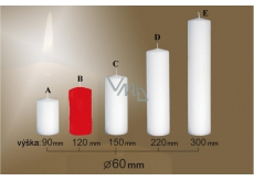 Lima Candle smooth red cylinder 60 x 120 mm 1 piece