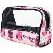 Albi Original Bag for cosmetics with window Owls 19 x 13 x 9 cm