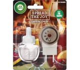 Air Wick Spread The Joy Fireside Cheer - Pohodlí u krbu elektrický osvěžovač vzduchu komplet 19 ml