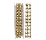 Gold chain, decorative 1 x 75 cm