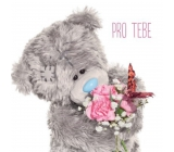 Me to You Greeting card in Bear with bouquet and bow tie
