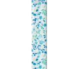 Nekupto Wrapping paper Blue-green flowers 70 x 150 cm