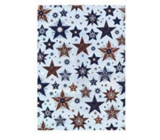 Ditipo Gift wrapping paper 70 x 500 cm Christmas turquoise blue-brown stars