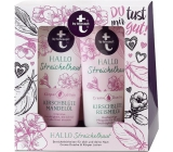T: BY Tetesept Hallo Sonneschein Cherry blossom and rice milk body lotion 200 ml + shower gel 200 ml cosmetic set
