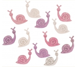 Wooden snails 4 cm, 12 pieces