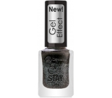Dermacol 5 Day Stay Gel Effect long-lasting nail polish with gel effect 32 Chat Noir 12 ml