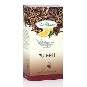 Dr. Popov Pu-Erh orange tea contributes to weight control and mental health 30 g, 20 infusion bags each 1.5 g
