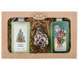 Bohemia Gifts Merry Christmas Merry shower gel 2 x 200 ml + glass ornament, cosmetic set