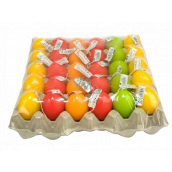 Easter egg candle 5.5 x 4.5 cm on a plate 1 piece random selection