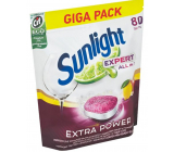 Sunlight AiO Expert Extra Lemon dishwasher tablets 80 tablets