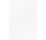 Ditipo Gift wrapping paper 70 x 100 cm White silver ornaments 2 sheets