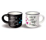 Nekupto Pair of mini cups I love you very much and I love you very much 2 x 100 ml
