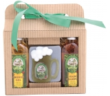 Bohemia Gifts Beer Spa shower gel 100 ml + handmade soap pint glass 100 g + hair shampoo 100 ml, cosmetic set