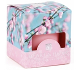 Heart & Home Cherry blossom Soy scented candle without packaging burns for up to 15 hours 53 g