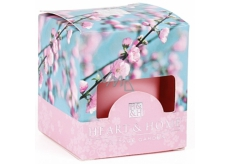 Heart & Home Cherry Blossom Soy Scented Candle without burning burns up to 15 hours 53 g