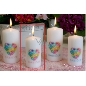 Lima Grandmother candle with decal roller 50 x 100 mm 1 piece