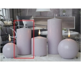 Lima Ice pastel candle light purple cylinder 80 x 150 mm