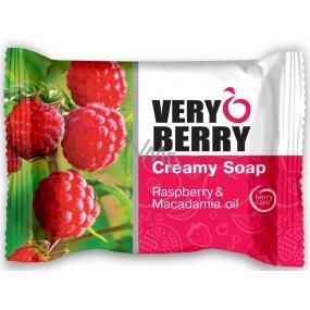 Very Berry Raspberry & Macadamia Oil - raspberry and macadamia oil toilet soap with essences 100 g