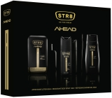 Str8 Ahead shaving water for men 50 ml + deodorant spray 150 ml + shower gel 250 ml, cosmetic set