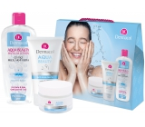 Dermacol Aqua Beauty Moisturizing Cream moisturizing cream 50 ml + Aqua Beauty 3in1 Face Cleaning Gel cleansing gel 150 ml + Aqua Beauty Micellar Lotion micellar water 400 ml, cosmetic set