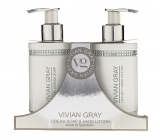 Vivian Gray Crystal White hand cream 250 ml + hand milk 250 ml, cosmetic set