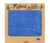 Albi Fitness towel Brother you can do it blue 90 x 50 cm