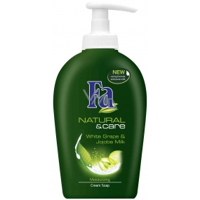 Fa Natural & Care White grape liquid soap with 300 ml dispenser
