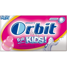 Wrigleys Orbit Kids Bubble Gum chewing gum without sugar slices 14 pieces 27 g