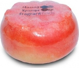 Fragrant Golden Balls Glycerine soap massage with sponge filled with fragrance Beckham Classic in color bright red 200 g