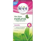 Veet Natural Inspirations Wax Strips wax strips normal and dry skin 12 pieces + Pefect Finish wipes 2 pieces