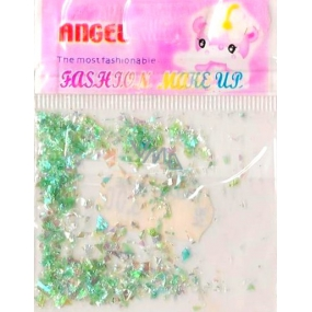 Angel nail decorations pieces light green 1 pack